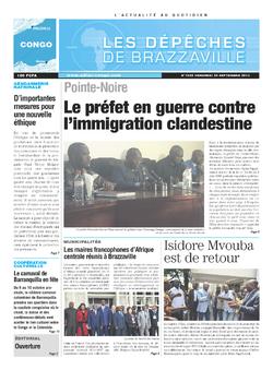 Les Dépêches de Brazzaville : Édition brazzaville du 20 septembre 2013