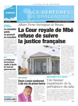 Les Dépêches de Brazzaville : Édition brazzaville du 23 septembre 2013