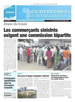 Les Dépêches de Brazzaville : Édition brazzaville du 24 septembre 2013