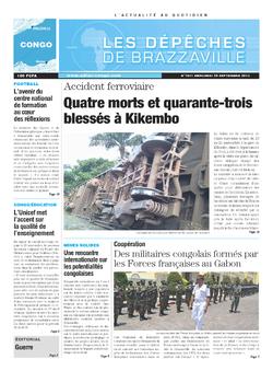 Les Dépêches de Brazzaville : Édition brazzaville du 25 septembre 2013