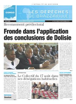 Les Dépêches de Brazzaville : Édition brazzaville du 26 septembre 2013