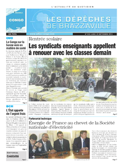 Les Dépêches de Brazzaville : Édition brazzaville du 30 septembre 2013