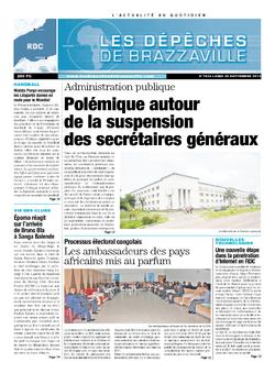 Les Dépêches de Brazzaville : Édition kinshasa du 30 septembre 2013