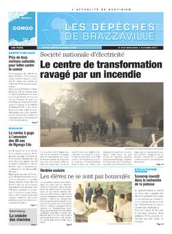 Les Dépêches de Brazzaville : Édition brazzaville du 02 octobre 2013
