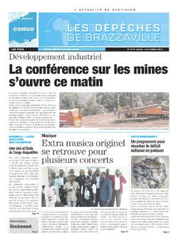 Les Dépêches de Brazzaville : Édition brazzaville du 03 octobre 2013