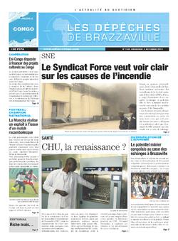 Les Dépêches de Brazzaville : Édition brazzaville du 04 octobre 2013