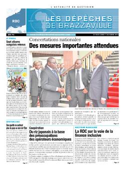 Les Dépêches de Brazzaville : Édition kinshasa du 07 octobre 2013