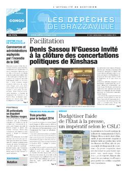 Les Dépêches de Brazzaville : Édition brazzaville du 09 octobre 2013