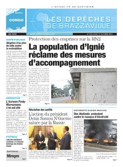 Les Dépêches de Brazzaville : Édition brazzaville du 10 octobre 2013