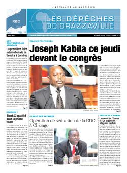 Les Dépêches de Brazzaville : Édition kinshasa du 10 octobre 2013