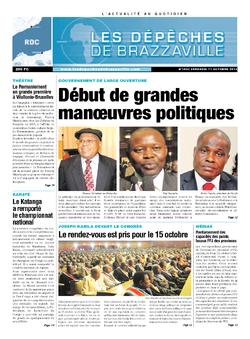 Les Dépêches de Brazzaville : Édition kinshasa du 11 octobre 2013