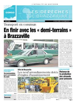 Les Dépêches de Brazzaville : Édition brazzaville du 14 octobre 2013