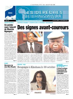 Les Dépêches de Brazzaville : Édition kinshasa du 14 octobre 2013