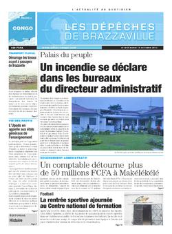 Les Dépêches de Brazzaville : Édition brazzaville du 15 octobre 2013