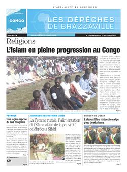 Les Dépêches de Brazzaville : Édition brazzaville du 16 octobre 2013