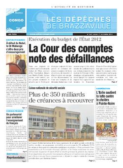 Les Dépêches de Brazzaville : Édition brazzaville du 17 octobre 2013
