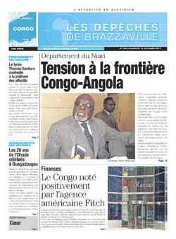 Les Dépêches de Brazzaville : Édition brazzaville du 18 octobre 2013