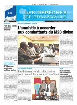 Les Dépêches de Brazzaville : Édition kinshasa du 18 octobre 2013