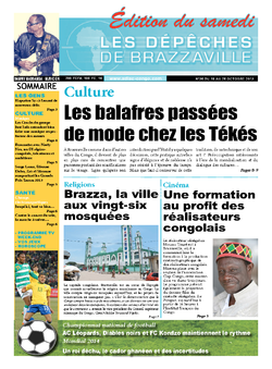 Les Dépêches de Brazzaville : Édition du 6e jour du 19 octobre 2013
