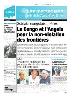 Les Dépêches de Brazzaville : Édition brazzaville du 21 octobre 2013