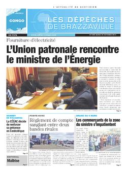 Les Dépêches de Brazzaville : Édition brazzaville du 22 octobre 2013