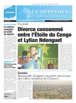Les Dépêches de Brazzaville : Édition brazzaville du 23 octobre 2013