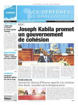 Les Dépêches de Brazzaville : Édition brazzaville du 24 octobre 2013