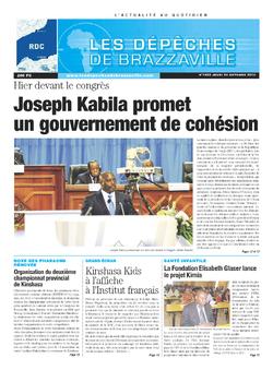 Les Dépêches de Brazzaville : Édition kinshasa du 24 octobre 2013