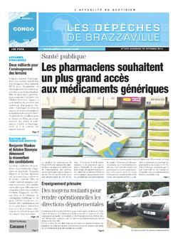 Les Dépêches de Brazzaville : Édition brazzaville du 25 octobre 2013