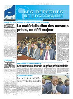 Les Dépêches de Brazzaville : Édition kinshasa du 25 octobre 2013