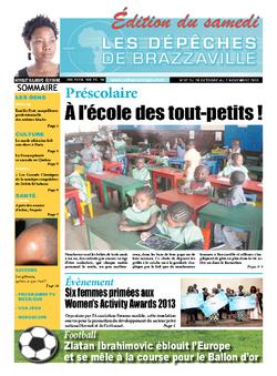 Les Dépêches de Brazzaville : Édition du 6e jour du 26 octobre 2013