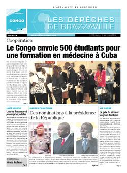 Les Dépêches de Brazzaville : Édition brazzaville du 28 octobre 2013
