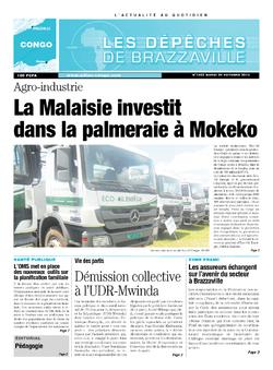 Les Dépêches de Brazzaville : Édition brazzaville du 29 octobre 2013