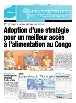 Les Dépêches de Brazzaville : Édition brazzaville du 30 octobre 2013