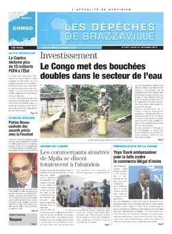 Les Dépêches de Brazzaville : Édition brazzaville du 31 octobre 2013