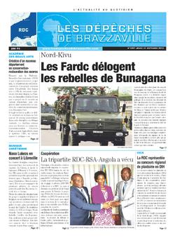 Les Dépêches de Brazzaville : Édition kinshasa du 31 octobre 2013