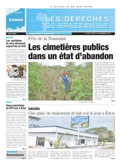 Les Dépêches de Brazzaville : Édition brazzaville du 04 novembre 2013