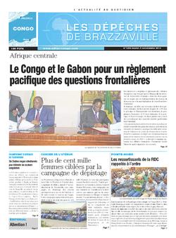 Les Dépêches de Brazzaville : Édition brazzaville du 05 novembre 2013