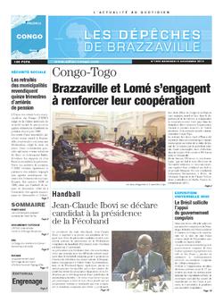 Les Dépêches de Brazzaville : Édition brazzaville du 06 novembre 2013