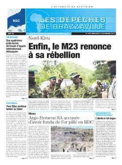 Les Dépêches de Brazzaville : Édition kinshasa du 06 novembre 2013