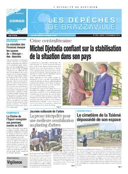 Les Dépêches de Brazzaville : Édition brazzaville du 07 novembre 2013