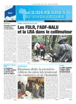 Les Dépêches de Brazzaville : Édition kinshasa du 07 novembre 2013