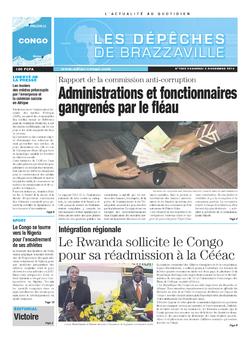 Les Dépêches de Brazzaville : Édition brazzaville du 08 novembre 2013