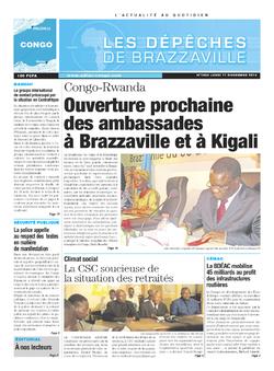 Les Dépêches de Brazzaville : Édition brazzaville du 11 novembre 2013