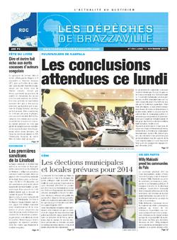 Les Dépêches de Brazzaville : Édition kinshasa du 11 novembre 2013