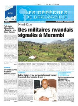Les Dépêches de Brazzaville : Édition kinshasa du 12 novembre 2013