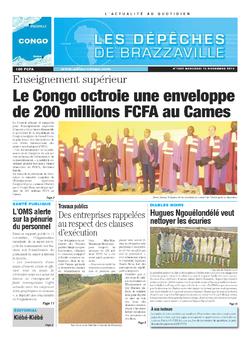 Les Dépêches de Brazzaville : Édition brazzaville du 13 novembre 2013