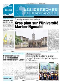 Les Dépêches de Brazzaville : Édition brazzaville du 18 novembre 2013