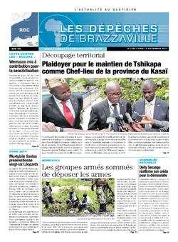 Les Dépêches de Brazzaville : Édition kinshasa du 18 novembre 2013