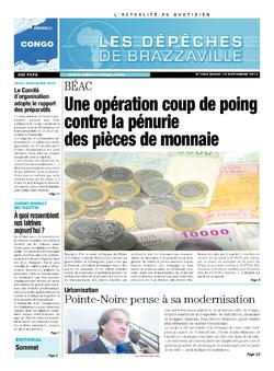 Les Dépêches de Brazzaville : Édition brazzaville du 19 novembre 2013
